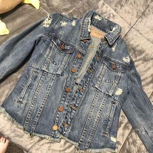 BlankNYC Distressed Denim Jacket